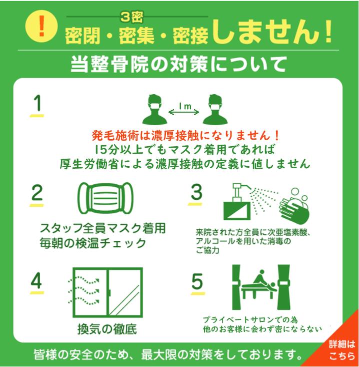 院内コロナ感染予防対策