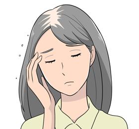 ひこう性脱毛症イメージ